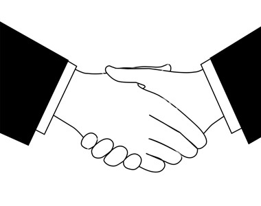 Clipart-sketch-of-business-deal-handshake-in-black-and-white